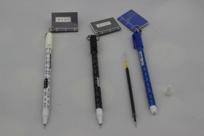 Chinese dream/GUI Yang gel/student with notebook Notepad needle gel pen