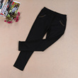 Summer thin models middle-aged ladies bamboo charcoal casual pants high waist mother mother pants