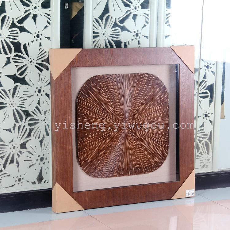 厂家直销咖啡木雕装饰画现代欧式立体装饰画餐厅竖版艺术画玛雅画