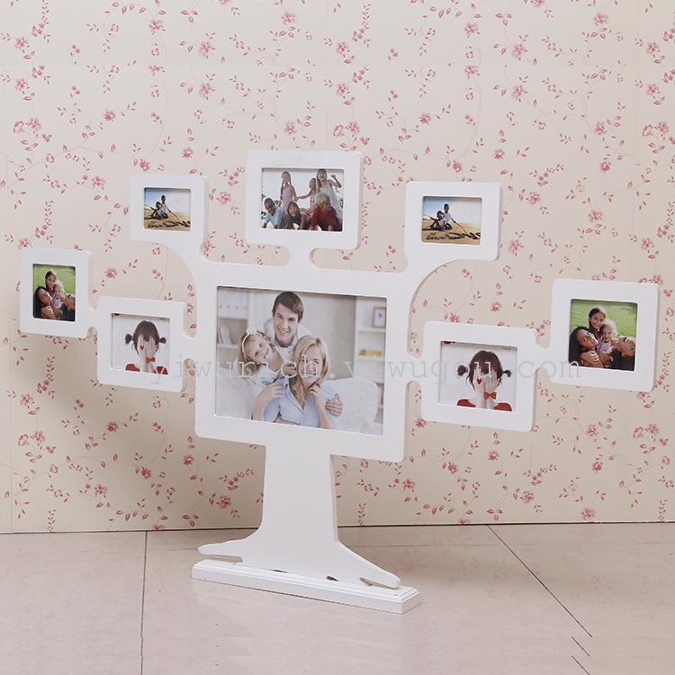 厂家直销桌面摆放式幸福树相框 经典相框墙 创意照片