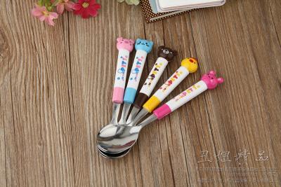 Spoon spoon spoon spoon cartoon boutique household tableware stainless steel spoon