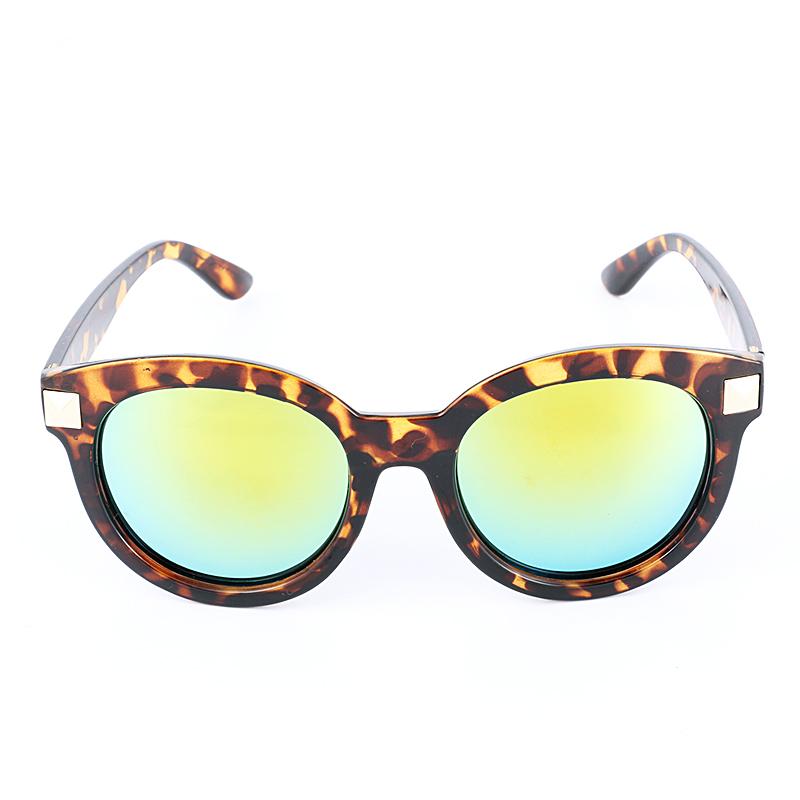 新款大黑圆框潮防紫外线复古墨镜时尚眼镜批发
