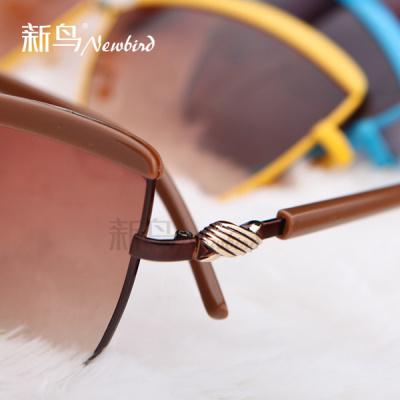 New bird 2014 ladies sunglasses new authentic Europe and UV-star-style frame sunglasses hamajing 5305