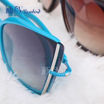 New bird vintage diamond sunglasses boomers NPC box cool edges and stylish Sun glasses sunglasses 5307