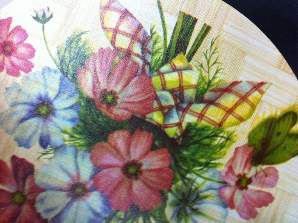 防烫圆形印花餐垫,隔热垫杯垫_天然竹木制品_义乌国际