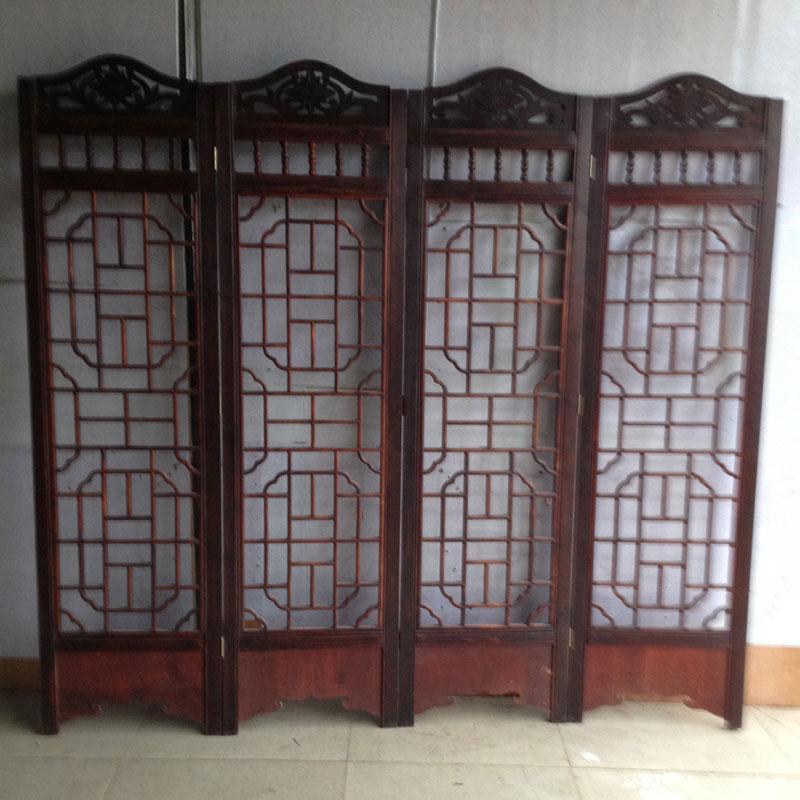 型号:9550-30 中式复古实木镂空手工雕刻宜家家居酒店装修 玄关 隔断
