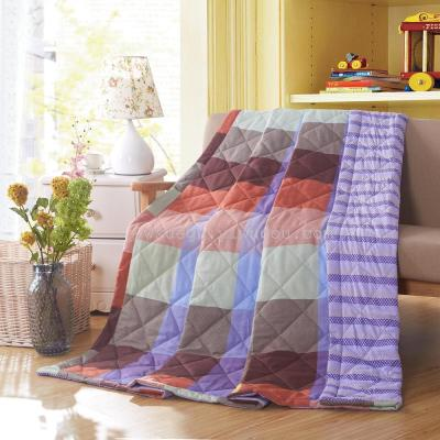 Flamingos - blue air conditioning is made of pure cotton single double student children quilt.