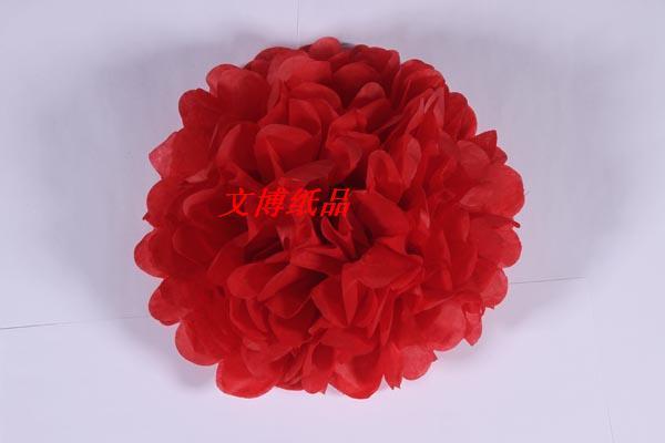 diy创意折纸花球 手工工艺纸花球 蜡光纸花 厂家直销
