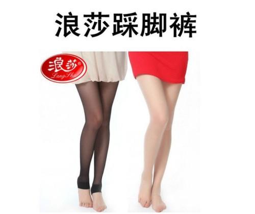 浪莎包芯丝绢感觉加裆踩脚裤袜Z6863
