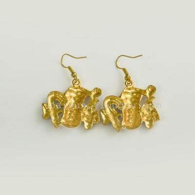 Rhinestone Jewelry Ear Stud Santa Claus Earrings  Wedding Souvenir Decorative Free Shipping  E0005