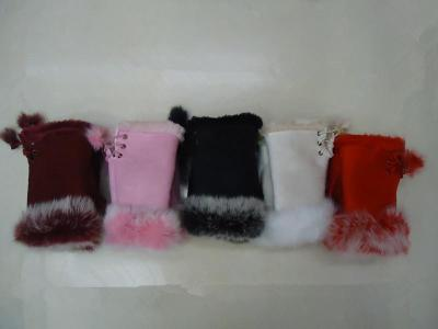 The new Korean version of genuine rabbit hair gloves half of fur.