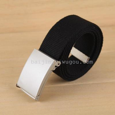 Hundred gold single smooth buckles in stock men and women mixed batch of elastic Ribbon belt DM080011