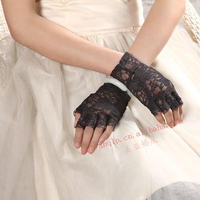 Half wedding Bridal Gloves ceremonial dress gloves