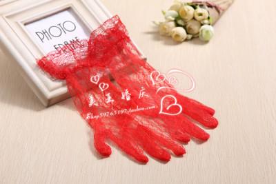 Bride wedding dress etiquette of gloves