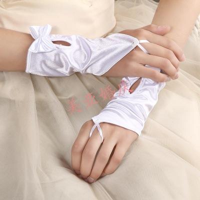 Bride wedding dress gloves