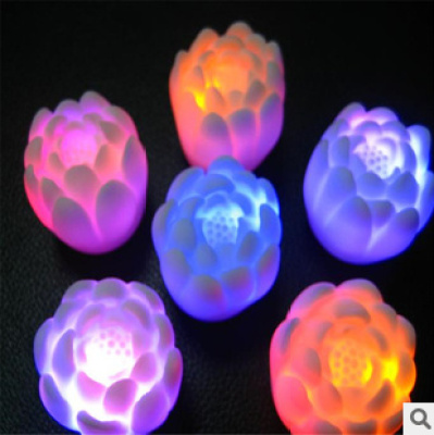 Supply colorful LED multi-color small Lotus Festival decoration wedding supplies