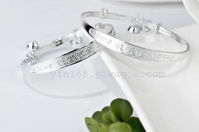 New 2014 Fashion 925 sterling silver Jewelry bracelets Free shipping Top quality 1pair 925 Baby bangles 50MM BBS0001