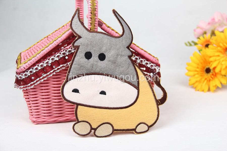 可爱大牛布贴 卡通动物头布贴 补丁贴 服饰配件