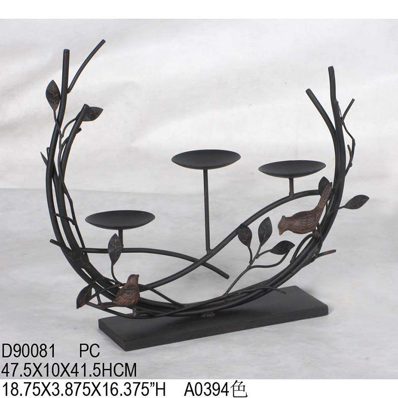 欧式田园铁艺树枝烛台 家庭装饰品 d90081