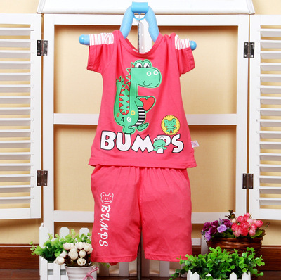 Original foreign trade changong mud rabbit hot summer cotton baby t-shirts pants suit