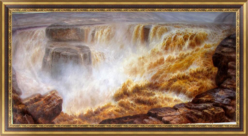 自然山水风景笔画