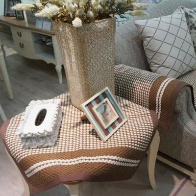 Lady white cotton woven sofa cushion cushion fabric in summer high fashion slip modern cushions