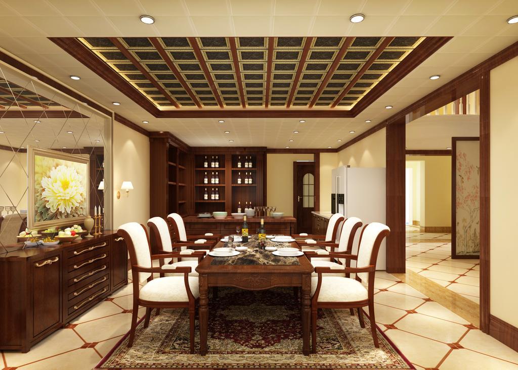 厨房卫生间吊顶,全屋吊顶定制厅饭厅吊顶简欧美式中式