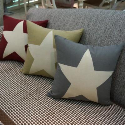 Yang Zhixiu simple fashion canvas five-pointed star designer lumbar pillows pillow cushion sofa bed pillow