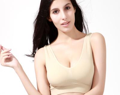 Seamless underwear girls vest Micro gather Sports Bras-free movement with purple rims thin underwear