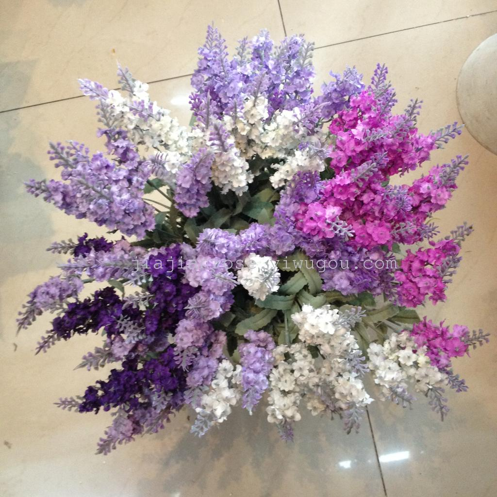 Supply 10 Provence Lavender bouquet 4 colors choose artificial ...