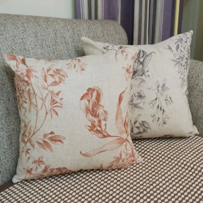 Orchid cotton breathable backrest lumbar car pillow hug pillowcase sofa bed home hug pillowcase