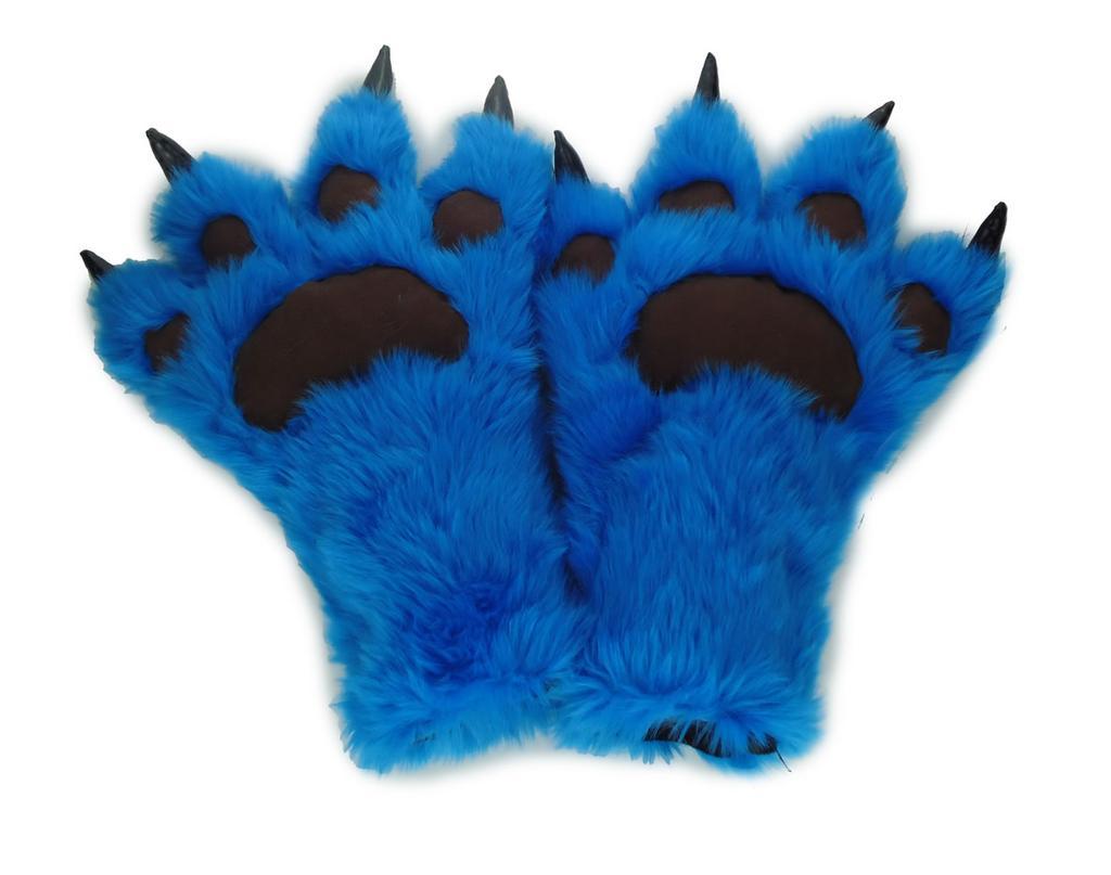 毛绒手套 熊掌爪子手套 冬季手套 时尚表演手套_宏昌