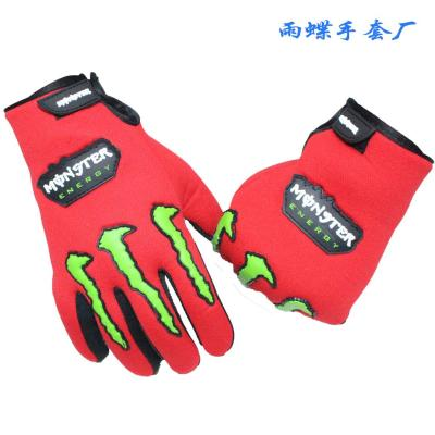 Luminous gloves thermal skull personality general fashion gloves ride fashion autumn and winter