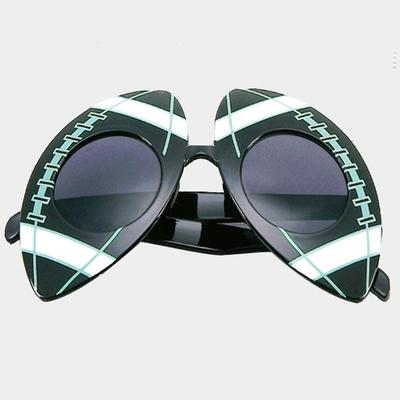 Supply the new ball fun glasses printed multi color Rugby glasses fashion retro glasses men and women general glasses