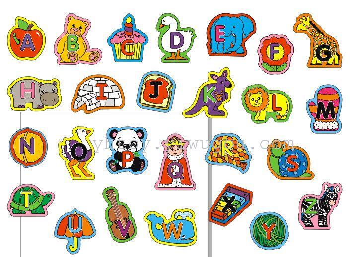 冰箱贴 软磁贴 创意家居 夏季热卖 26个字母或1-20