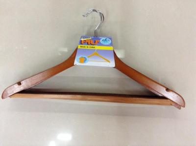 Boutique clothes hanger factory outlet 93-fruited yellow side bar with teeth to hang pants
