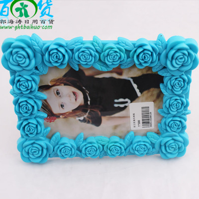 Two stars art roses photo frames in Yiwu commodity wholesale factory direct color plastic card