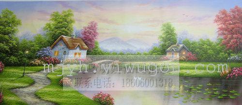 托马斯风景油画装饰画油画纯手绘油画156135_ 明娇画