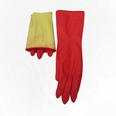 Red thickened anti slip latex household housework gloves washing dishes washing gloves