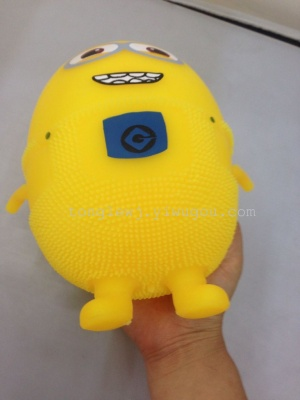 22 cm yellow flashes spread the hot glowing fluffy ball inflatable toys
