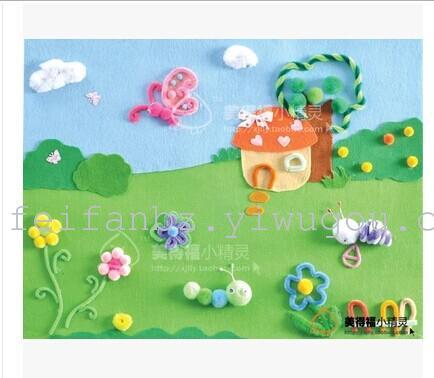 厂家直销不织布材料包 diy 立体画 儿童益智手工材料包图片