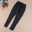 Summer models of women's cotton loose loose Harlan leisure flower pants
