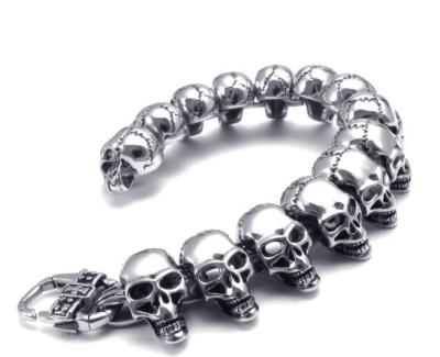 2018 new 316L stainless steel bracelets men's bracelets skull bracelet