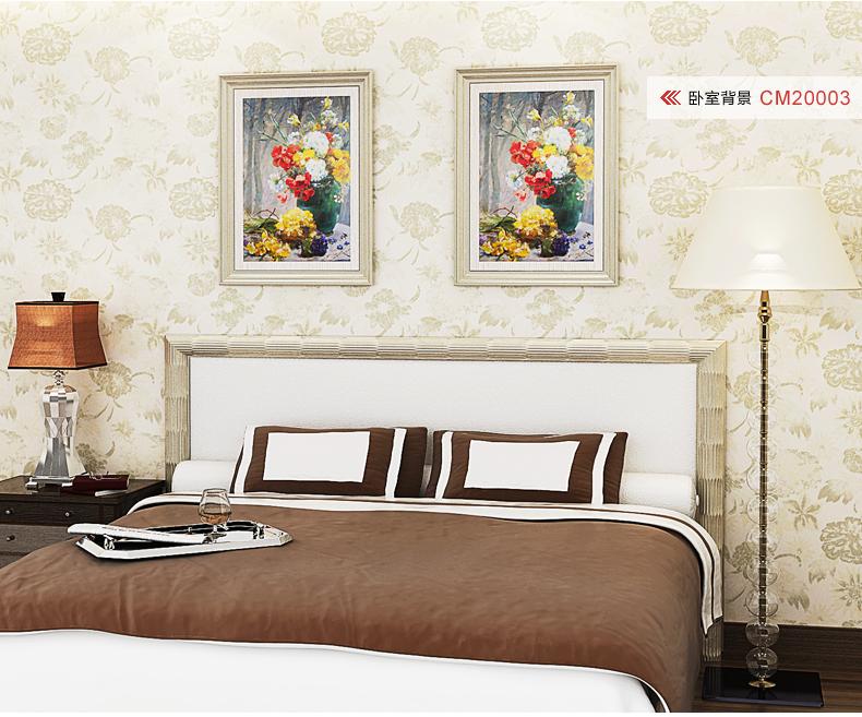 除甲醛 无纺布墙壁纸 欧式 卧室客厅电视背景墙壁纸