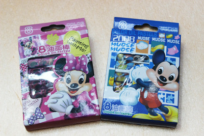 813-8 factory direct genuine Disney children's stationery and drawing with crayons 8 color paint stirring stick