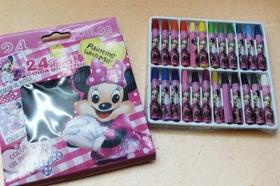 813-24 original oil pastel oil pastels 24 colors wholesale Mickey Disney oil painting stick