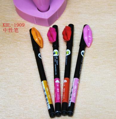 Factory direct KBL-1909 Korea stationery wholesale lip rolling creative popular gel ink pen