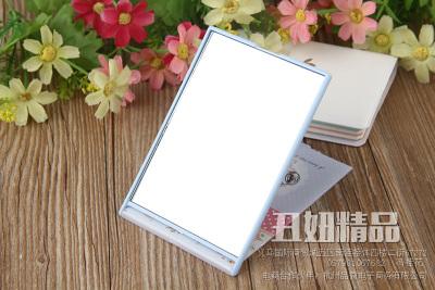 Cartoon rectangular vanity mirror-sided mirror with flip ultra thin mirror mirror plastic mirror