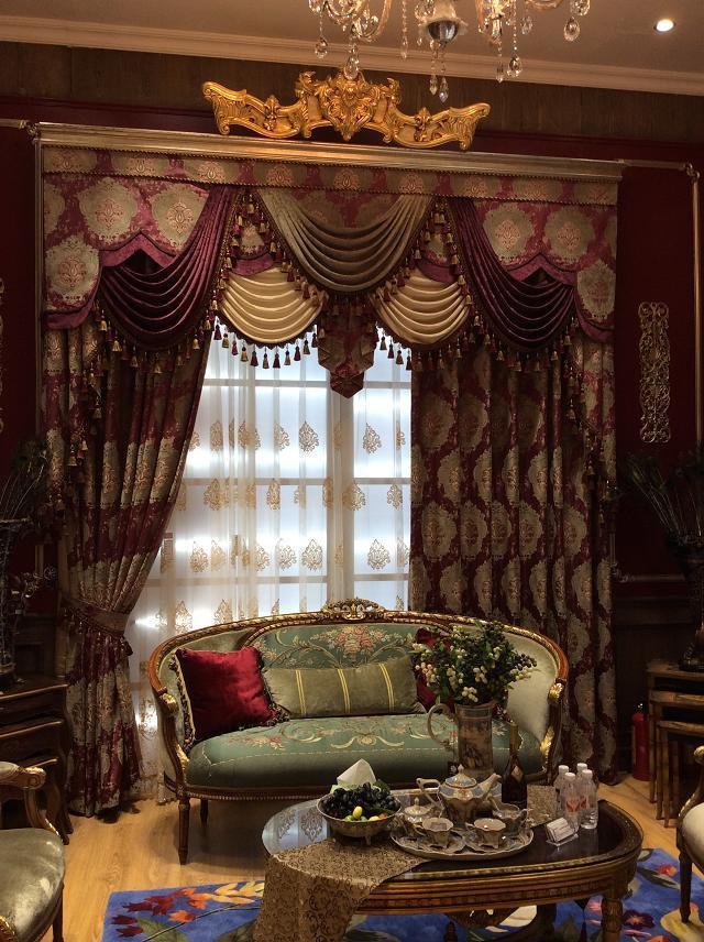 奢华高档欧式提花布窗帘客厅高档卧室成品遮光别墅婚房窗幔厚