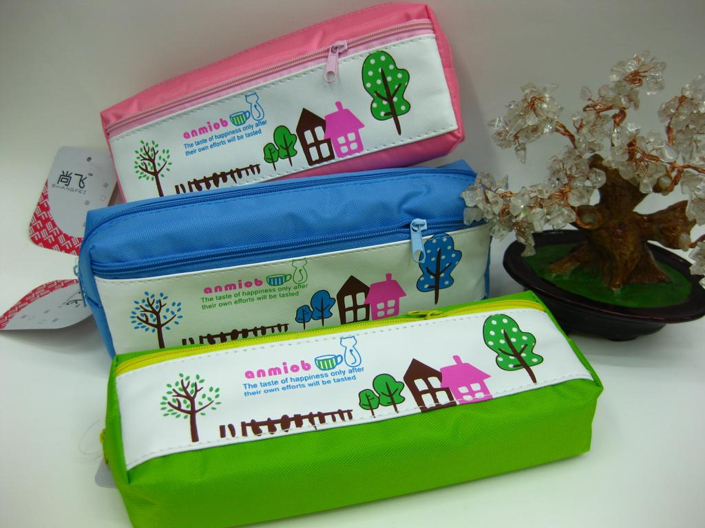 我的文具袋�9�#���_卡通拉链大容量可爱笔袋 创意简约文具袋
